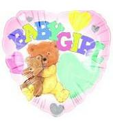 "18"" Baby Girl Bear  Add a Name With Stickers"