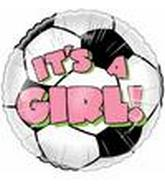 "18"" It&#39s A Girl Soccer"