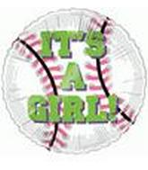 "18"" It&#39s A Girl Baseball"