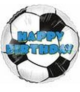 "9"" Airfill Happy Birthday Soccer Ball"