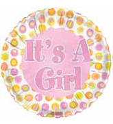 "18"" It&#39s a Girl Dots Classic"