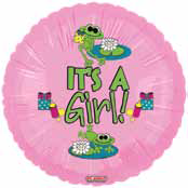 "18"" Froggy Fun Girl It�s a Girl"