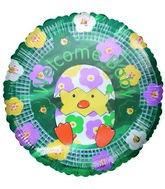"9"" Airfill Only Balloon Welcome Baby Chick Floral"
