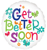 "18"" Get Better Soon Butterfly and Flowers"