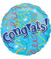 "18"" Congrats Streamers Balloon"