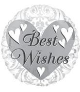 "18"" Best Wishes Wedding Damask"