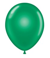 "24"" Round Emerald Green Latex Balloons 5 Count"
