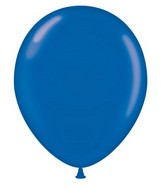 "24"" Round Crystal Sapphire Blue Latex Balloons 5 Count"