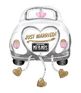 "31"" Just Married Wedding Car Shape Balloon"