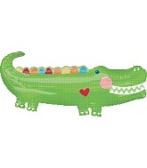 "41"" Smilling Green Alligator Shape Balloon"
