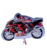 "27"" Sport Motorcycle Mylar Balloon"