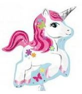 "21"" Unicorn Shaped Mylar Balloon"