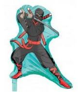 "22"" Ninja Shaped Mylar Balloon"