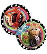 "9""  Airfill Muppets Group Balloon"