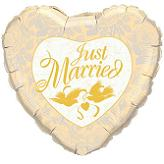 "18"" Just Married Ivory"