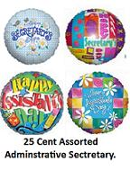 225 Assorted Secretary Administrative Day Balloons