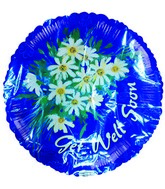 "18"" Get Well Soon Flowers Blue"