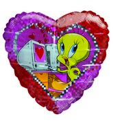 "36"" Tweety Digital Love Jumbo Pink Heart"