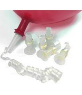 Small Clear Valves with White Ribbon (250 Pack)