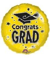 "18"" Congrats Grad Yellow"