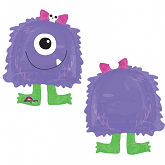 "22"" Purple Monster Eye Balloon Buddies"