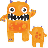 "25"" Orange Monster Eye Balloon Buddies"