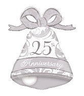 "27"" Silver Elegant 25th Anniversary Bell"