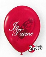11 Je t'aime – Rose rouge po. rouge rubis 50s