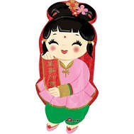 "18"" Happy Chinese New Year Girl Jr Shape"