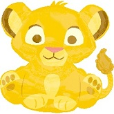 "33"" Lion King Baby Shape Balloon"