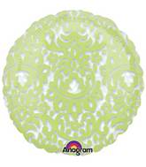 "18"" See Through Honeydew Tapestry Balloon"