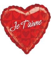 "18"" Je T'aime Dots Balloon (French)"