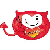 "18"" Hottie Junior Devil Shape Mylar Balloon"