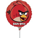 "9"" Airfill Only Angry Birds Red Bird Balloon"