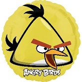 "18"" Angry Birds Yellow Bird Mylar Balloon"