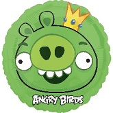 "18"" Angry Birds King Pig Mylar Balloon"