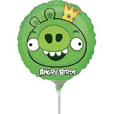 "9"" Airfill Only Angry Birds King Pig Balloon"