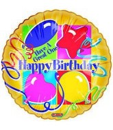 "18"" HAppy Birthday Floating Mylar Balloon"