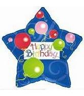 "21"" H.B. Balloons & Swirls (Star Shape)"