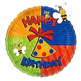 "18"" Happy Birthday Butterfly Balloon"