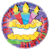 "18"" Happy Birthday Cake Balloon"