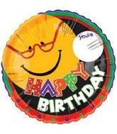 "18"" Happy Birthday Smiley Spectacles"
