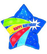 "21"" Wild Star Happy Birthday Balloon"
