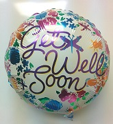 "18"" Get Well Soon Flowers Border"
