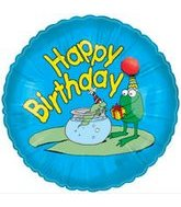 "18"" Happy Birthday Frog Balloon"
