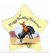 "18"" Happy Birthday Buckaroo Cowboy"