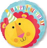 "18"" Fisher Price Happy 1st Birthday Lion"