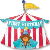 "23"" Fisher-Price First Birthday Circus Tent"