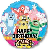"28"" Yo Gabba Gabba Happy Birthday Singing Balloon"
