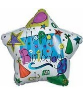 "18"" Happy Birthday Balloons & Hats"